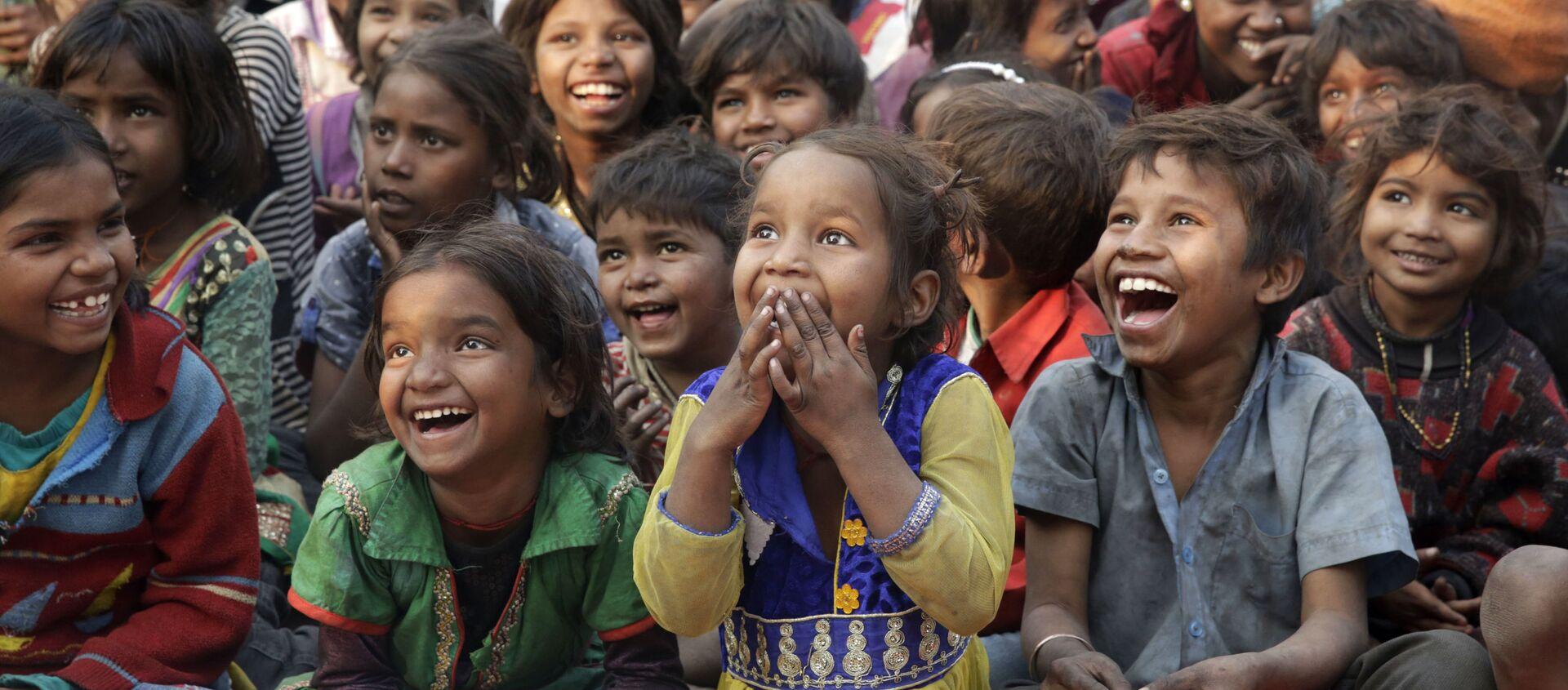 Trẻ em nghèo, Ấn Độ. - Sputnik Việt Nam, 1920, 16.06.2020