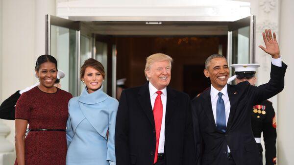 Michelle Obama, Melania Trump, Donald Trump, Barack Obama - Sputnik Việt Nam