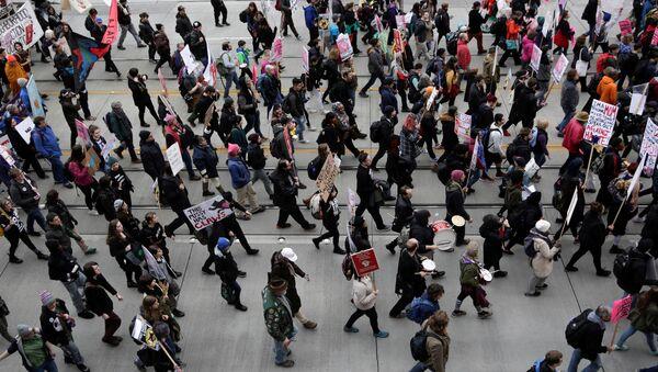 Khoảng hai triệu người tham gia cuộc tuần hành của phụ nữ ở Mỹ - Sputnik Việt Nam
