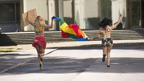 nhà hoạt động phong trào Femen - Sputnik Việt Nam