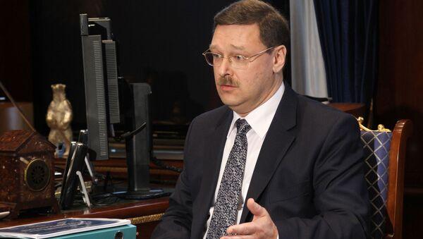 Chủ tịch Ủy ban Quốc tế của Hội đồng Liên bang Nga Konstantin Kosachev - Sputnik Việt Nam