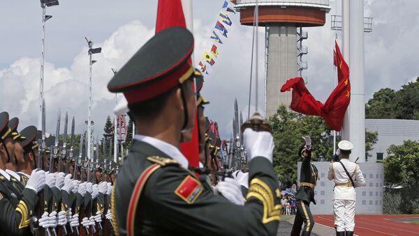 Поднятие государственного флага на военно-морской базе Китая - Sputnik Việt Nam