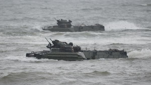 Quân đội Mỹ trong cuộc tập trận đổ bộ thường niên với Philippines tại tỉnh Zambales, Philippines, hồi tháng 10/2016 - Sputnik Việt Nam