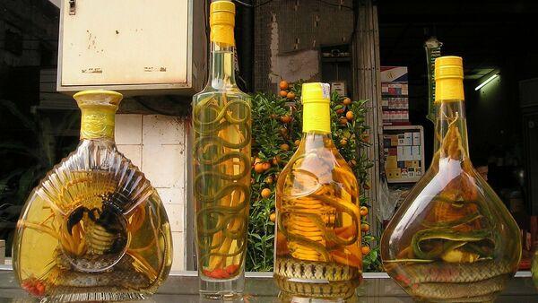 Bình ngâm rắn và bọ cạp trên quầy hàng ở Việt Nam - Sputnik Việt Nam