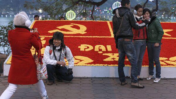Người Việt trên đường phố Hà Nội,  trước Đại hội Đảng toàn quốc của Việt Nam - Sputnik Việt Nam