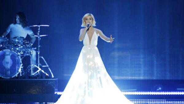 Polina Gagarina tại buổi diễn tập vòng bán kết đầu tiên tại cuộc thi hát quốc tế Eurovision 2015 ở Vienna - Sputnik Việt Nam