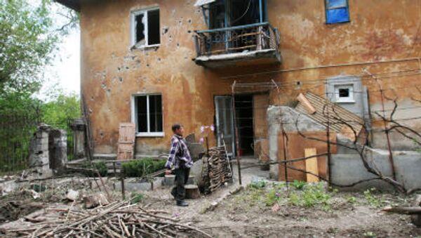 Ngôi nhà tại Donetsk bị quân đội Ukraine bắn phá - Sputnik Việt Nam