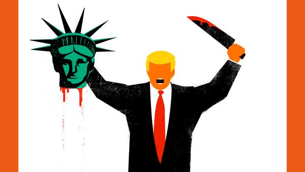 tờ bìa tai tiếng với Trump là bảo vệ nền dân chủ, Tạp chí Spiegel - Sputnik Việt Nam