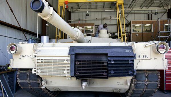 xe tăng Mỹ M1A2 Abrams - Sputnik Việt Nam