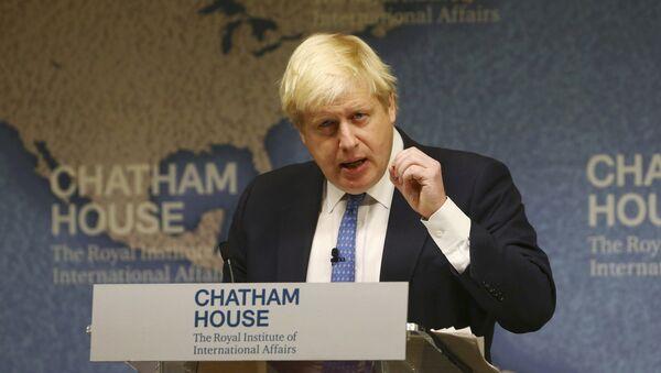 ông Boris Johnson, người đứng đầu Bộ Ngoại giao Anh - Sputnik Việt Nam