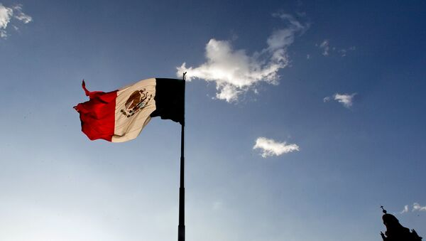 A Mexican flag flutters at the Zocalo square in Mexico City, on April 29, 2009. The World Health Organisation raised its flu alert to phase five out of six, WHO chief Margaret Chan said, signalling that a pandemic was imminent following the swine flu outbreak. - Sputnik Việt Nam