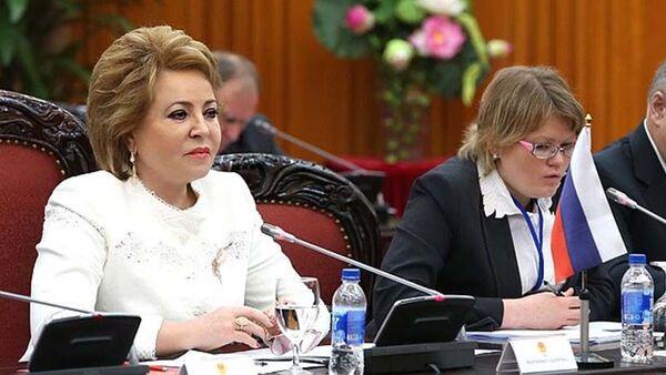 Chủ tịch Quốc hội Việt Nam Nguyễn Thị Kim Ngân tiếp bà Valentina Matvienko - Sputnik Việt Nam