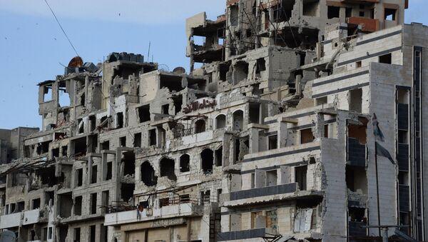 Вид на разрушенные дома в Хомсе - Sputnik Việt Nam