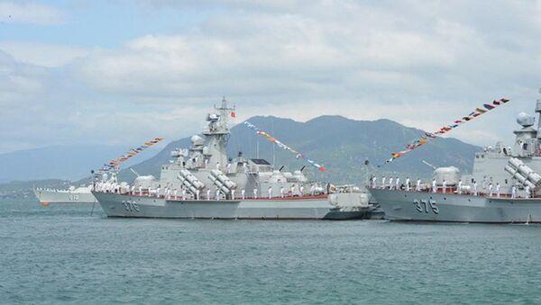 Bộ đôi tàu tên lửa Molniya 1241.8 của Việt Nam tại Lễ thượng cờ tàu ngầm Kilo 636 186 - Đà Nẵng và 187 - Bà Rịa - Vũng Tàu - Sputnik Việt Nam