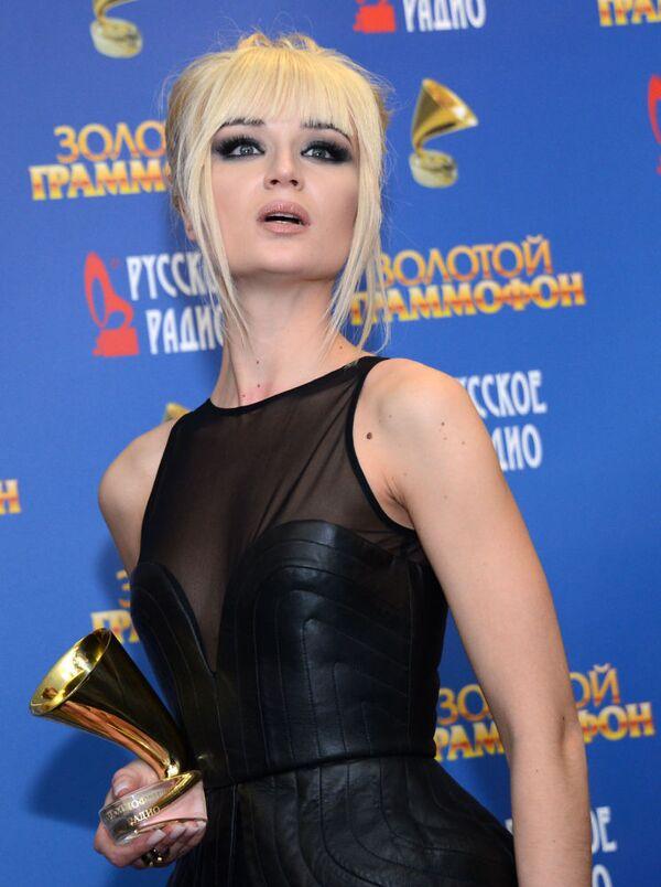 Ca sĩ Polina Gagarina tại lễ trao giải thưởng âm nhạc Golden Gramophone- 2013 - Sputnik Việt Nam