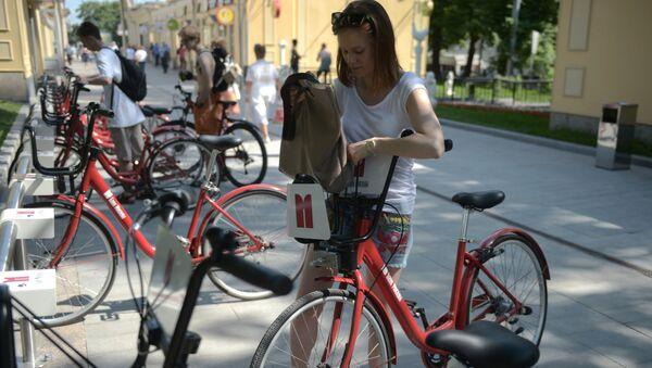 Ở Moskva có nhiều trạm cho thuê xe đạp - Sputnik Việt Nam