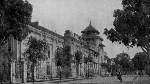 Tòa nhà trụ sở của Đại học Đông Dương tại 19 phố Lê Thánh Tông, Quận Hoàn Kiếm, thành phố Hà Nội được thành lập từ năm 1906 nay là Đại học Học Quốc gia Hà Nội - Sputnik Việt Nam