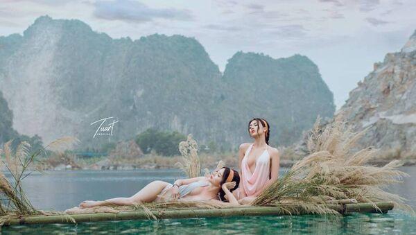 Một trong những bức ảnh chụp ở Tuyệt Tình Cốc khiến độc giả mạng dậy sóng những ngày qua. - Sputnik Việt Nam