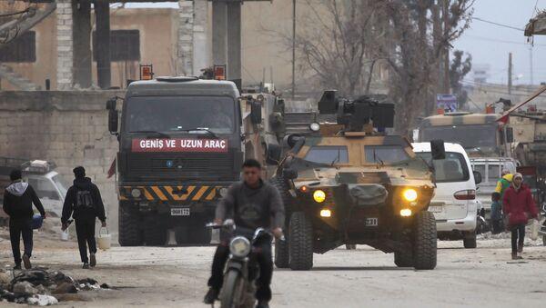 Xe quân sư Thổ Nhĩ Kỳ ở Al-Bab, Syria - Sputnik Việt Nam