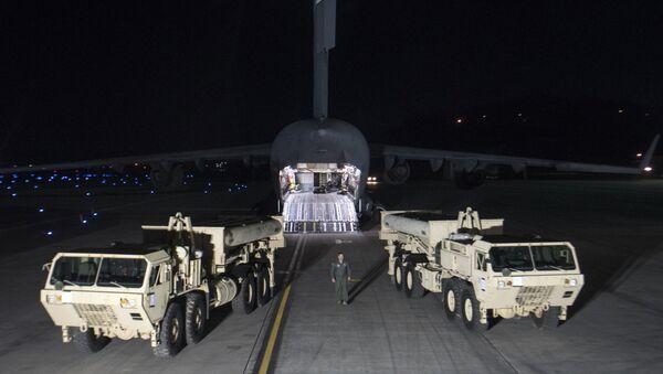 Mỹ bắt đầu việc triển khai hệ thống phòng thủ tên lửa THAAD ở Hàn Quốc - Sputnik Việt Nam