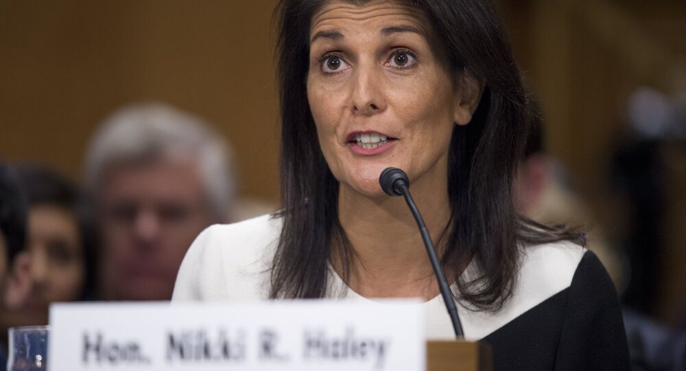 South Carolina Governor Nikki Haley testifies during her confirmation hearing for US Ambassador to the United Nations (UN) before the Senate Foreign Relations committee on Capitol Hill in Washington, DC