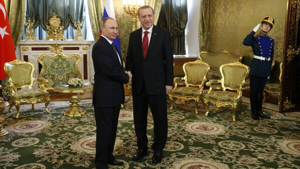 Tổng thống Putin với người đồng cấp Thổ Nhĩ Kỳ Tayyip Erdogan - Sputnik Việt Nam