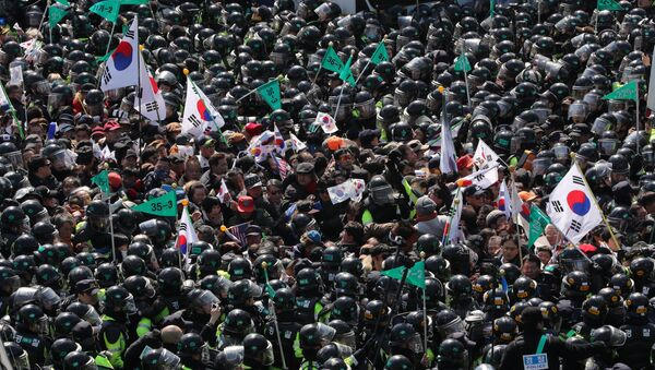 cuộc biểu tình ủng hộ bà Park Geun-hye - Sputnik Việt Nam