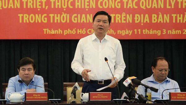 Bí thư Thành ủy TP.HCM Đinh La Thăng - Sputnik Việt Nam