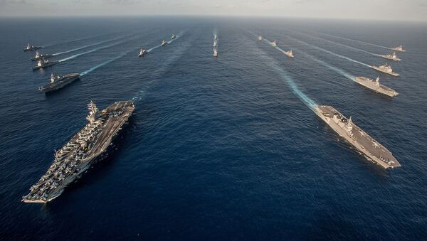 Mỹ có kế hoạch tăng cường sức mạnh vượt trội về hải quân và duy trì thường xuyên hai cụm tác chiến tàu sân bay ở châu Á do tình hình phức tạp ở Biển Đông - Sputnik Việt Nam