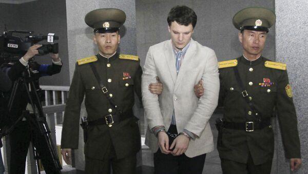 Sinh viên Mỹ Otto Warmbier đang bị tù ở Triều Tiên. - Sputnik Việt Nam
