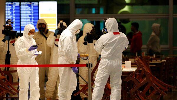 A Hazmat team conducts checks at KLIA2 airport terminal in Sepang - Sputnik Việt Nam