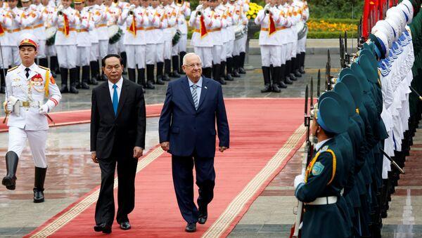 Президенты Вьетнама и Израиля Чан Дай Куанг и Реувен Ривлин на встрече в Ханое - Sputnik Việt Nam