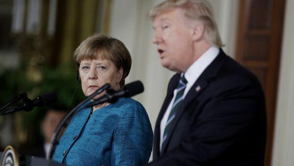 Thủ tướng Đức Angela Merkel, Tổng thống Mỹ Donald Trump - Sputnik Việt Nam