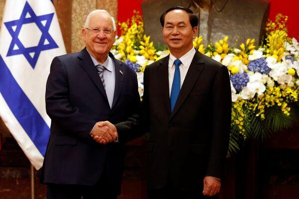 Trần Đại Quang và Tổng thống Israel Reuven Ruvi Rivlin - Sputnik Việt Nam