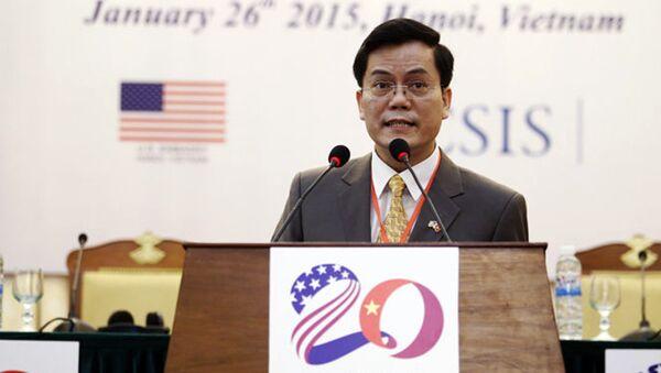 Thứ trưởng Bộ Ngoại giao Hà Kim Ngọc tại một hội thảo quốc tế về quan hệ Việt - Mỹ tổ chức tại Hà Nội tháng 1-2015 - Sputnik Việt Nam