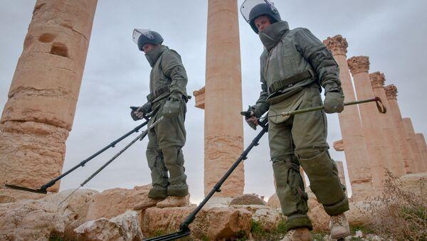 Lực lượng công binh Nga rà phá bom mìn ở Palmyra - Sputnik Việt Nam