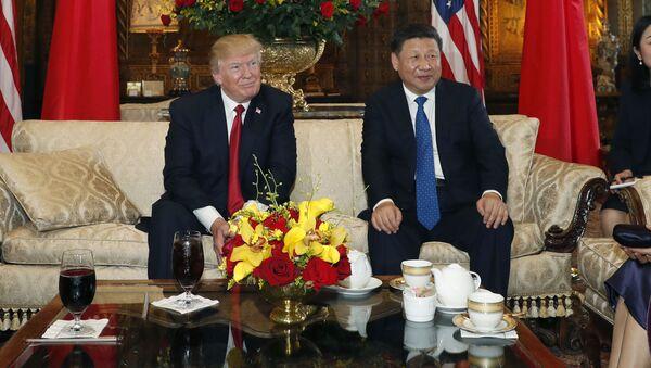 Tổng thống Hoa Kỳ Donald Trump với Chủ tịch Cộng hoà Nhân dân Trung Hoa Tập Cận Bình - Sputnik Việt Nam