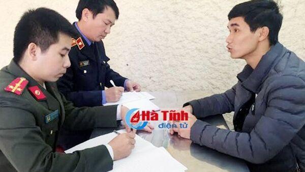 Nguyễn Văn Hóa tại cơ quan điều tra. - Sputnik Việt Nam