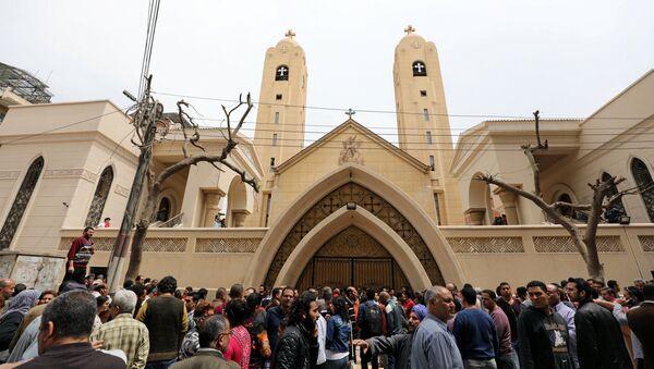 Hiện trường vụ đánh bom tại nhà thờ ở Tanta - Sputnik Việt Nam