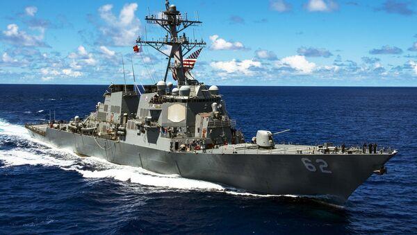 An Arleigh Burke-class guided-missile destroyer - Sputnik Việt Nam