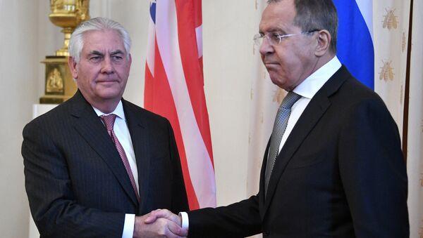 Ngoại trưởng Nga Sergei Lavrov, Ngoại trưởng Mỹ Rex Tillerson - Sputnik Việt Nam