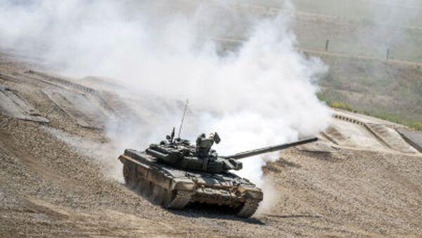 Xe tăng T-72B3 cuộc trưng bày ở ngoại ô Moskva - Sputnik Việt Nam