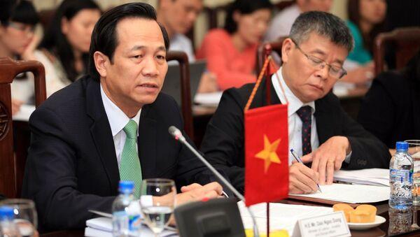 Bộ trưởng Đào Ngọc Dung phát biểu tại buổi làm việc - Sputnik Việt Nam