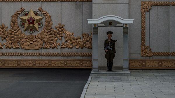 Một vệ binh danh dự bên Cung tưởng niệm Kumsusan - Sputnik Việt Nam