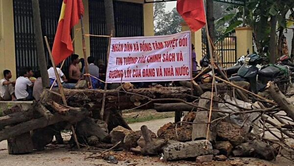 Người dân xã Đồng Tâm, huyện Mỹ Đức tuyệt đối tin tưởng vào chính sách, đường lối của Đảng và nhà nước. - Sputnik Việt Nam
