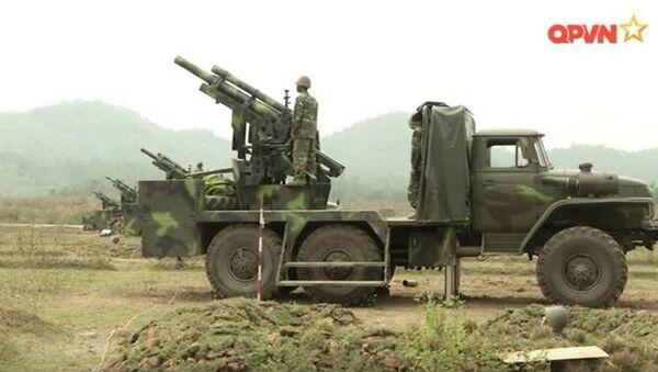 Thế hệ đầu tiên của pháo tự hành 105 mm do Việt Nam chế tạo. - Sputnik Việt Nam