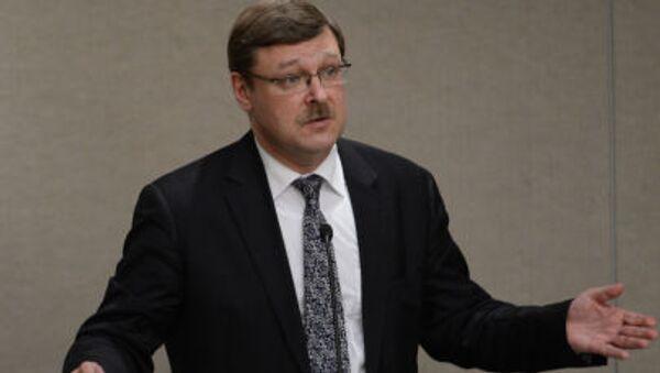 người đứng đầu ủy ban quốc tế Hội đồng Liên bang Nga Konstantin Kosachev - Sputnik Việt Nam