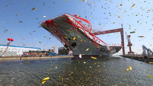 Trung Quốc hạ thủy tàu sân bay tự đóng đầu tiên - Sputnik Việt Nam