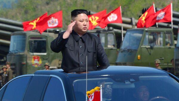 Tập trận pháo binh qui mô lớn kỷ niệm 85 năm thành lập Quân đội nhân dân Bắc Triều Tiên - Sputnik Việt Nam