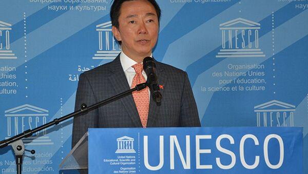 Đại sứ Phạm Sanh Châu tại buổi họp báo - Sputnik Việt Nam